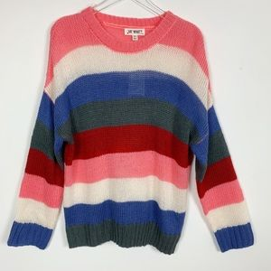 Say What Multi-Colored Striped Sweater